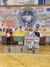 Medale Dominiki Potoniec na Mistrzostwach Polski Juniorów Młodszych w Taekwondo