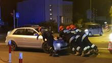 Wypadek w Chełmcu, stłuczka na skrzyżowaniu Marcinkowickiej i Krakowskiej