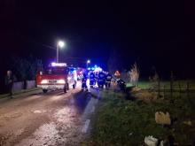 Groźny wypadek w Niecwi. Silnik wypadł z samochodu [FILM, ZDJĘCIA]