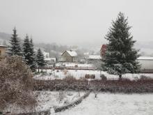 Bajkowo prószy śnieg w Nowym Saczu. Cudowna cisza i spokój