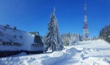 Ale pięknie! Bajkowa zima na Przehybie i hali Łabowskiej