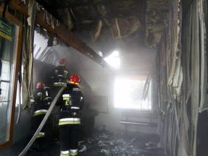 Dwie godziny strażacy gasili pożar leśniczówki. Niewiele udało się uratować