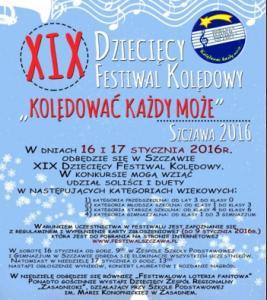 """XIX Dziecięcy Festiwal Kolędowy """"Kolędować każdy może"""", Szczawa"""
